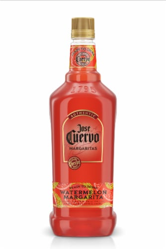 Jose Cuervo Authentic Watermelon Margarita Ready to Drink Cocktail Perspective: front