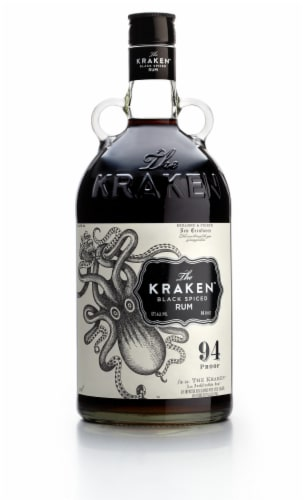 The Kraken Black Spiced Rum Perspective: front