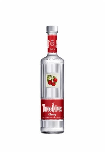 Three Olives Cherry Vodka Perspective: front