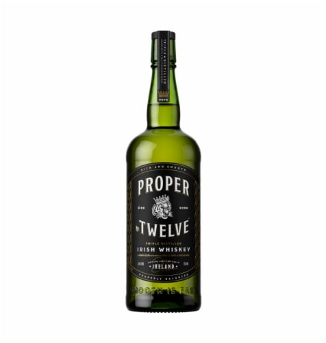 Proper No. Twelve Triple Distilled Irish Whiskey Perspective: front