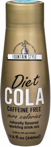 SodaStream Fountain Style Caffeine Free Diet Cola Drink Mix Perspective: front