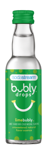SodaStream bubly drops Lime Unsweetened Natural Flavor Essence Perspective: front