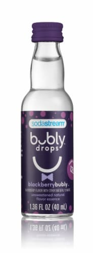 SodaStream bubly drops Blackberry Unsweetened Natural Flavor Essence Perspective: front