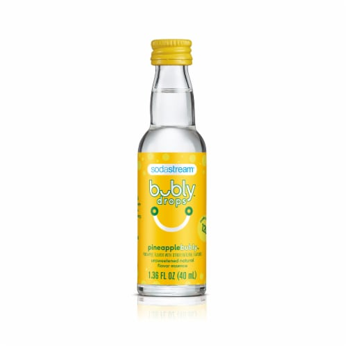 SodaStream Bubly Drops Pineapple Bubly Unsweetened Natural Flavor Essence Perspective: front