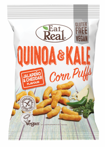 Eat Real Jalapeno & Cheddar Flavor Quinoa & Kale Puffs Perspective: front