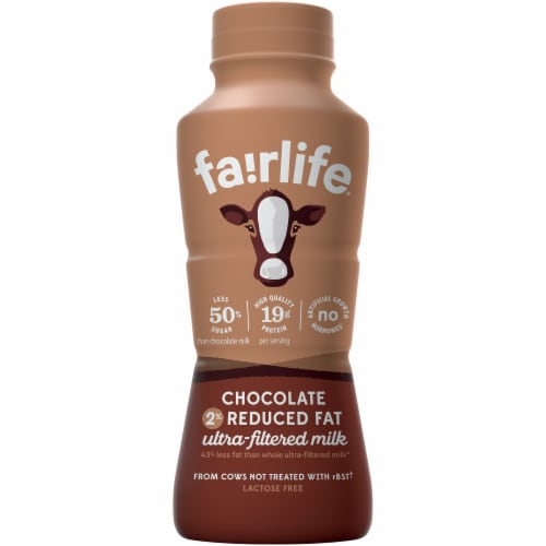 Fairlife 2% Reduced Fat Ultra-Filtered Chocolate Milk Perspective: front