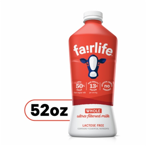 Fairlife Whole Ultra-Filtered Lactose Free Milk Perspective: front