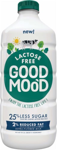 Good Moo'd 2% Reduced Fat Lactose Free Ultra-Filtered Milk Perspective: front