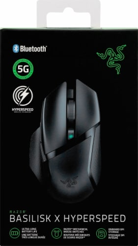 Razer Basilisk X HyperSpeed Wireless Gaming Mouse Perspective: front