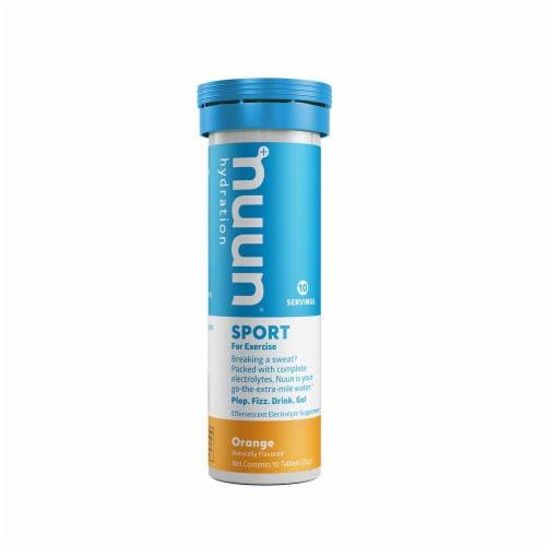 Nuun Sport Orange Electrolyte Supplement Water Enhancer Tablets Perspective: front