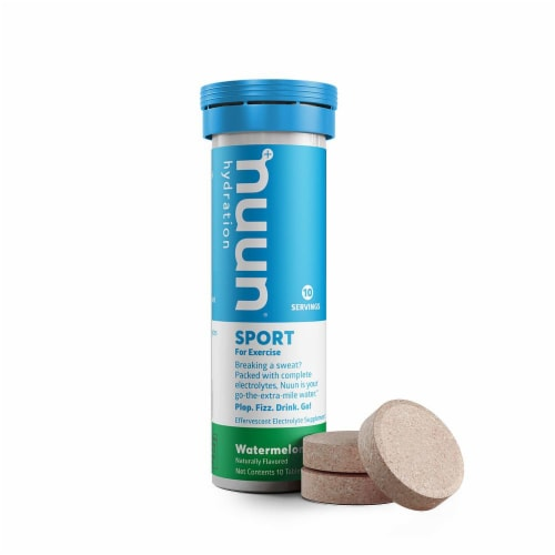 Nuun Sport Watermelon Effervescent Electrolyte Tablets Perspective: front