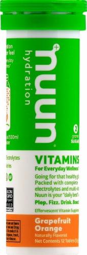 Nuun Hydration Grapefruit Orange Effervescent Vitamin Supplement Tablets Perspective: front