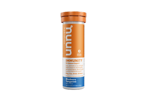 Nuun Blueberry Tangerine Immunity Tablets Perspective: front