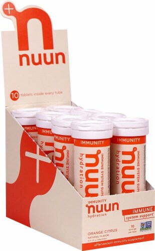NUUN Hydration Orange Citrus Immunity Drink Tablets Perspective: front