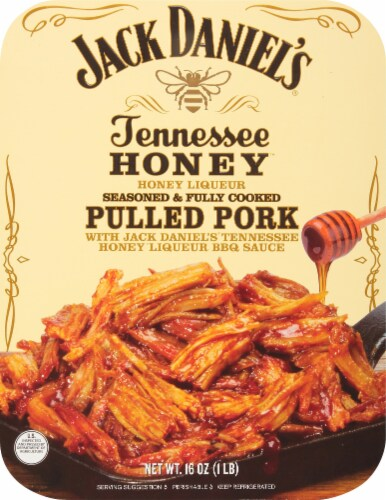 Jack Daniel's Tennessee Honey Liqueur Pulled Pork Perspective: front
