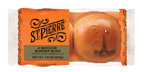 St Pierre Brioche Hamburger Buns Perspective: front