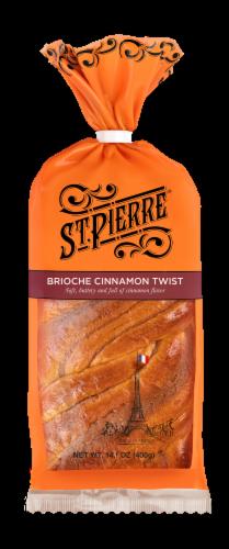 St Pierre Cinnamon Brioche Twist Hand Braided Bread Perspective: front