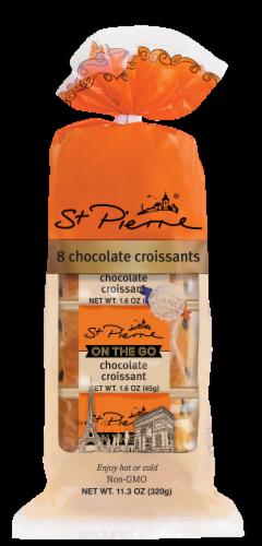 St Pierre Large Chocolate Croissants Perspective: front