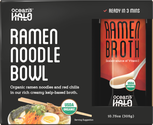 Ocean's Halo Organic Ramen Noodle Bowl Perspective: front