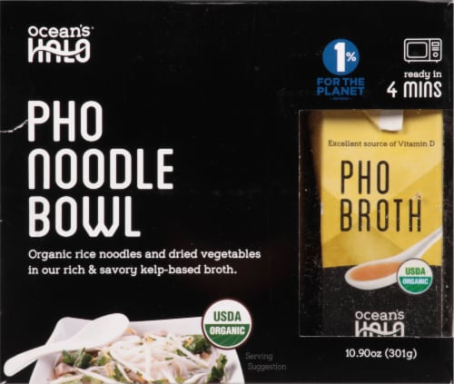 Ocean's Halo Organic Pho Noodle Bowl Perspective: front
