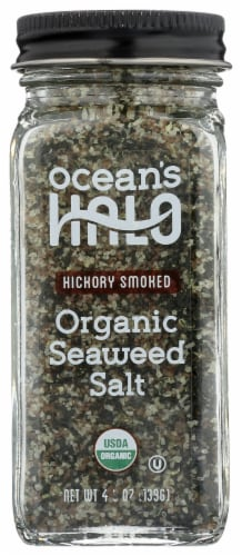 Ocean's Halo Hickory Smoked Organic Seaweed Salt Perspective: front