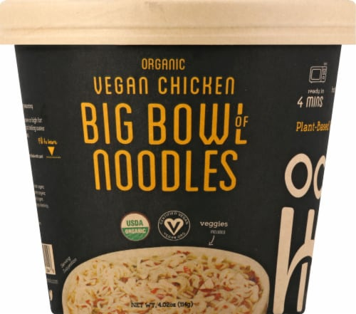 Ocean's Halo Organic Vegan Chicken Big Bowl of Noodles Perspective: front