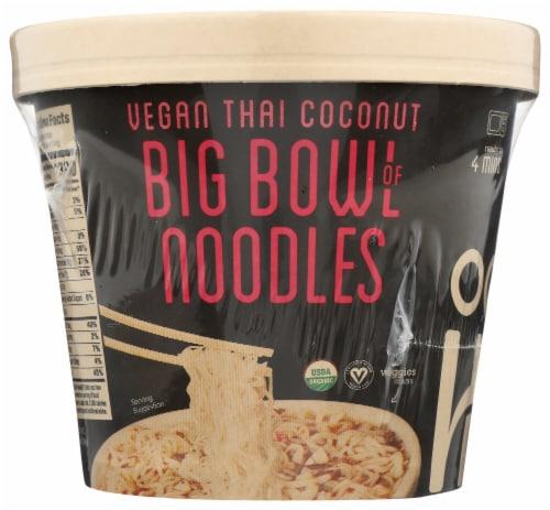 Ocean's Halo Organic Vegan Thai Coconut Big Bowl of Noodles Perspective: front
