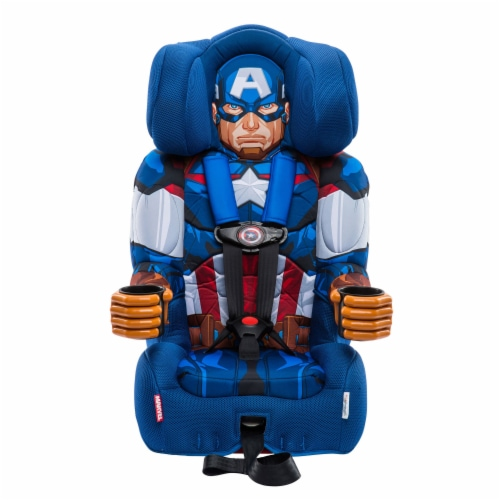 KidsEmbrace Marvel Avengers Captain America Combination Harness Booster Car Seat Perspective: front