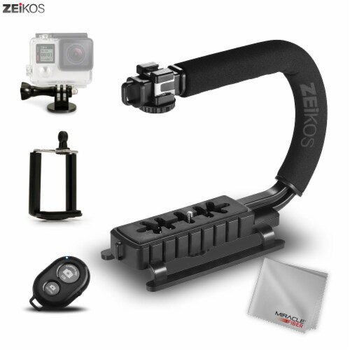 Handheld Stabilizer With 3 Shoe Mount Set Perspective: front