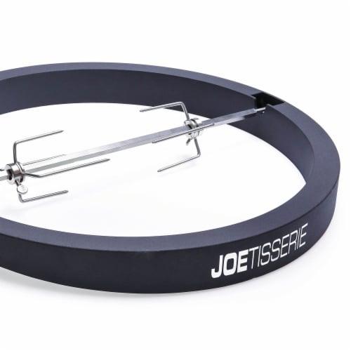 Kamado Joe KJ-TISSERIENA Powder Coated Aluminum Rotisserie Kit  Black - 18 in. Perspective: front