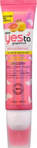 Yes To Grapefruit Brightening Unicorn Peel-Off Mask Perspective: front
