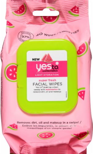 Yes To Watermelon Facial Wipes Perspective: front