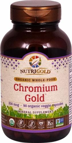 NutriGold Chromium Gold Vegetarian Caps 200mcg Perspective: front