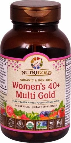 NutriGold Organic Women's 40 Plus Multi Gold Capsules Perspective: front