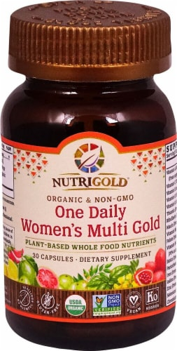 NutriGold One Daily Women's Multi Gold Capsules Perspective: front