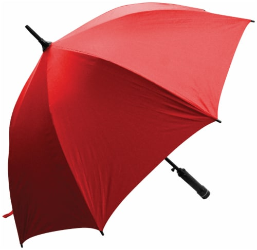 Creative Outdoor Bree-Z UV Umbrella with Built-In Fan - Red Perspective: front