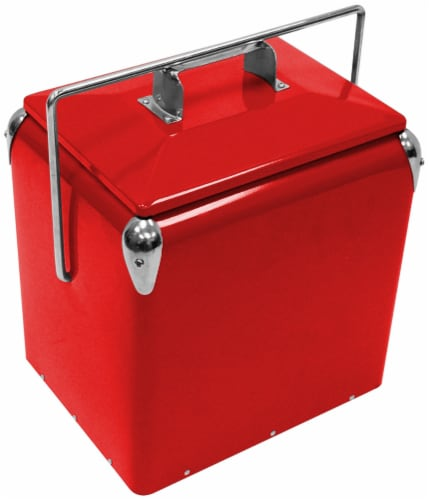 Creative Outoor Retro Cooler - Red Perspective: front