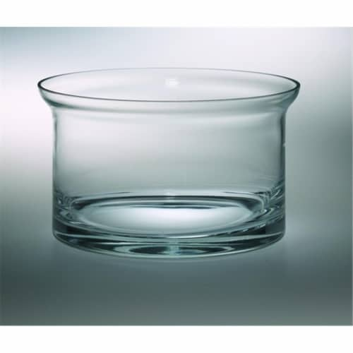 Majestic Gifts T-506 Classic clear 10 in. High Quality Glass Flair Salad Bowl Perspective: front