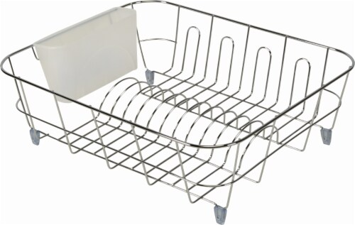 Ready2Go Kitchen Care Dish Drainer   Chrome Perspective: Front