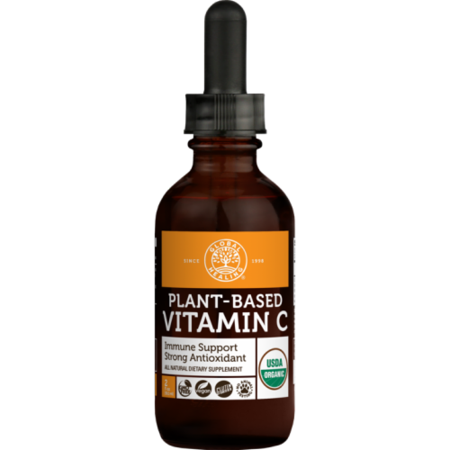 Global Healing Organic Plant-Based Vitamin C Supplement Liquid Perspective: front