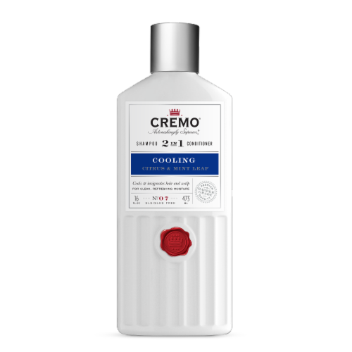 Cremo Cooling Citrus & Mint Leaf 2 in 1 Shampoo & Conditioner Perspective: front