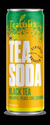Teatulia Pineapple Peach Lime Cucumber Black Tea Soda Perspective: front