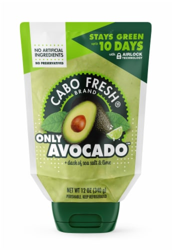 Cabo Fresh Only Avocado with a Dash of Sea Salt and Lime Perspective: front