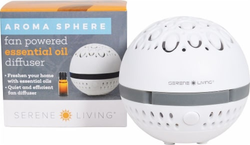 GreenAir  Aroma Sphere Fan Powered Essential Oil Diffuser White Perspective: front