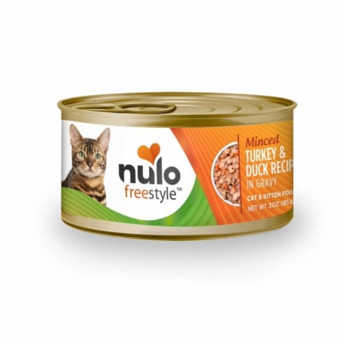 Nulo 811939020904 3Oz Nulo Freestyle Minced Turkey & Duck Recipe Canned Cat Food Perspective: front