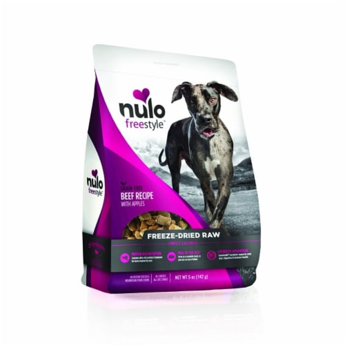 Nulo ND02116 Free Style Dog Freeze Dried Raw Grain Free Beef - 5 oz Perspective: front