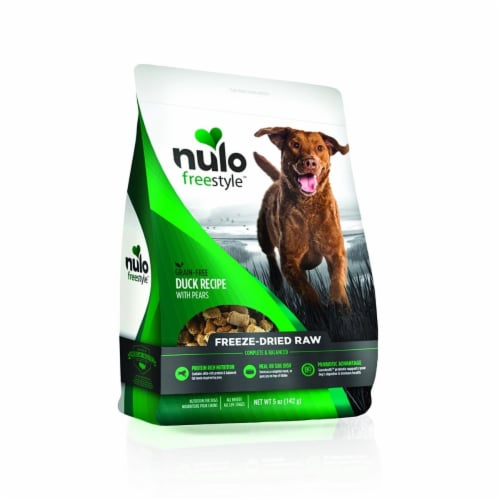 Nulo ND02117 Free Style Dog Freeze Dried Raw Grain Free Duck - 5 oz Perspective: front