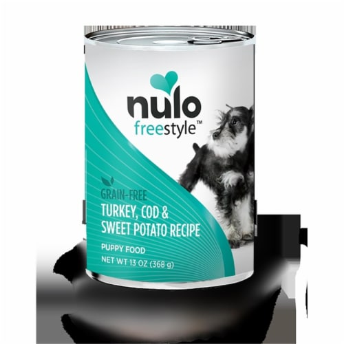 Nulo 811115 13 oz Freestyle Grain Free Turkey, Cod & Sweet Potato Recipe Puppy Food - Case of Perspective: front