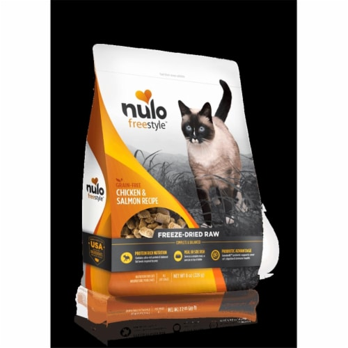 Nulo 66102417 3.5 oz Freestyle Cat Freeze-Dried Raw Grain-Free Chicken Salmon Perspective: front