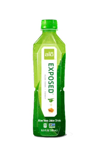 Alo Exposed Aloe & Honey Aloe Vera Juice Drink Perspective: front